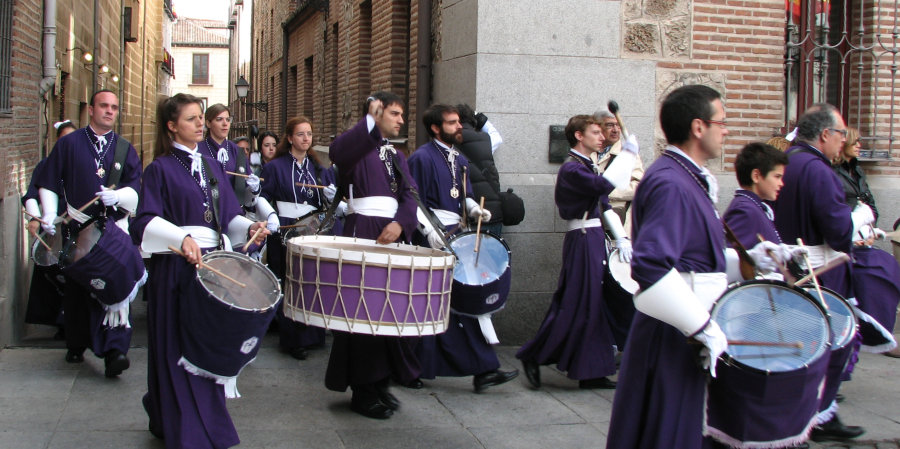Drummers' procession. Easter Sunday in Madrid